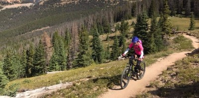 Mountain Biking the Monarch Crest Trail from Town